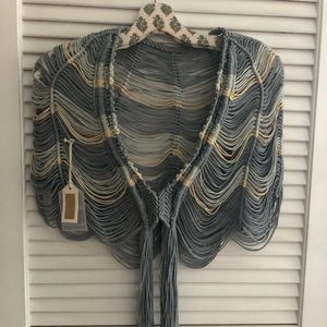 Jackets & Blazers - One-of-a-kind hand made macrame capelet shawl
